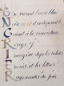 Calligraphie et atelier d'écriture